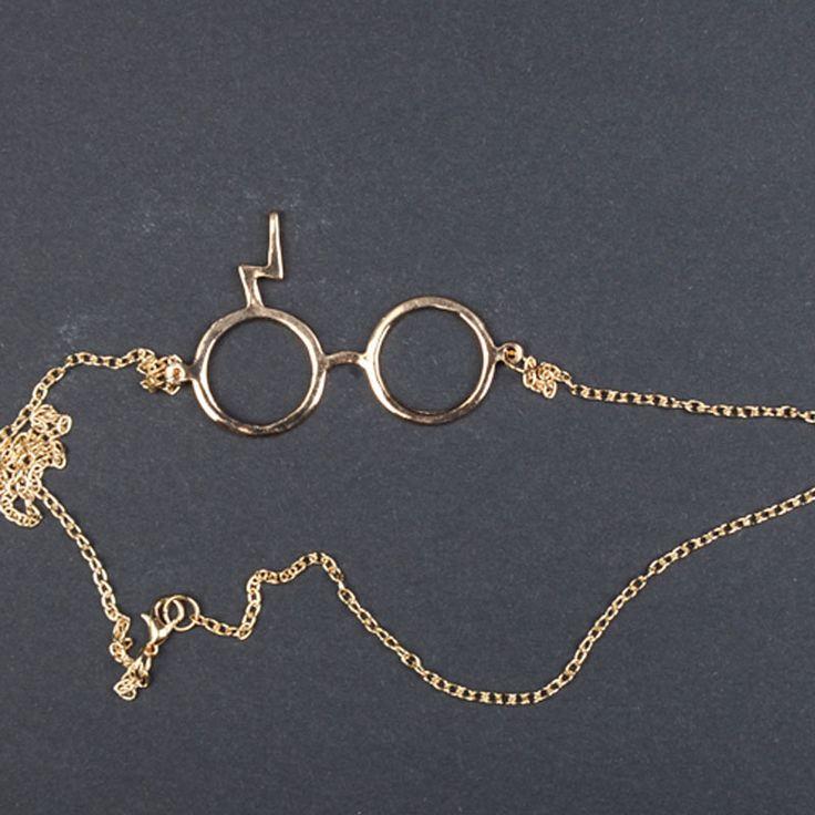 Купить товар2016 новая Мода серебрение ожерелье гарри поттер очки ожерелья для женщин оптовая торговля и смешанный цвет бесплатная доставка в категории Подвескина AliExpress.