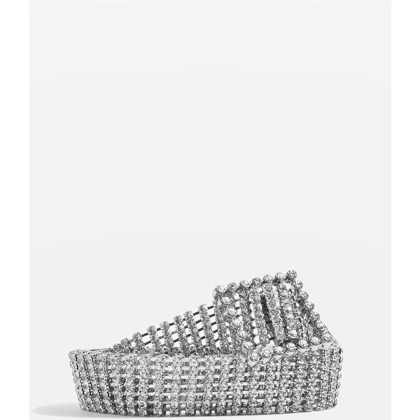 Topshop Crystal Belt (€34) Liked On Polyvore Featuring