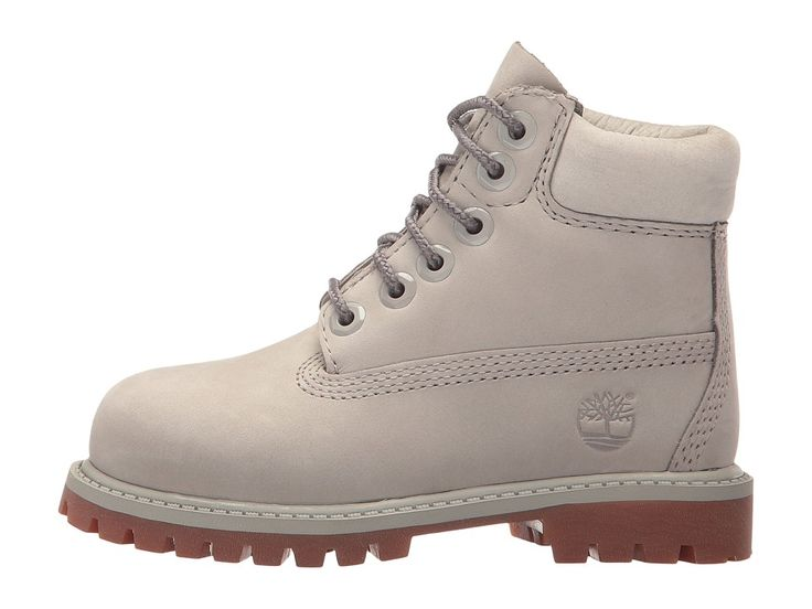 Timberland Kids 6 Premium Waterproof Boot (Toddler/Little Kid) Kids Shoes Flint Grey Waterbuck