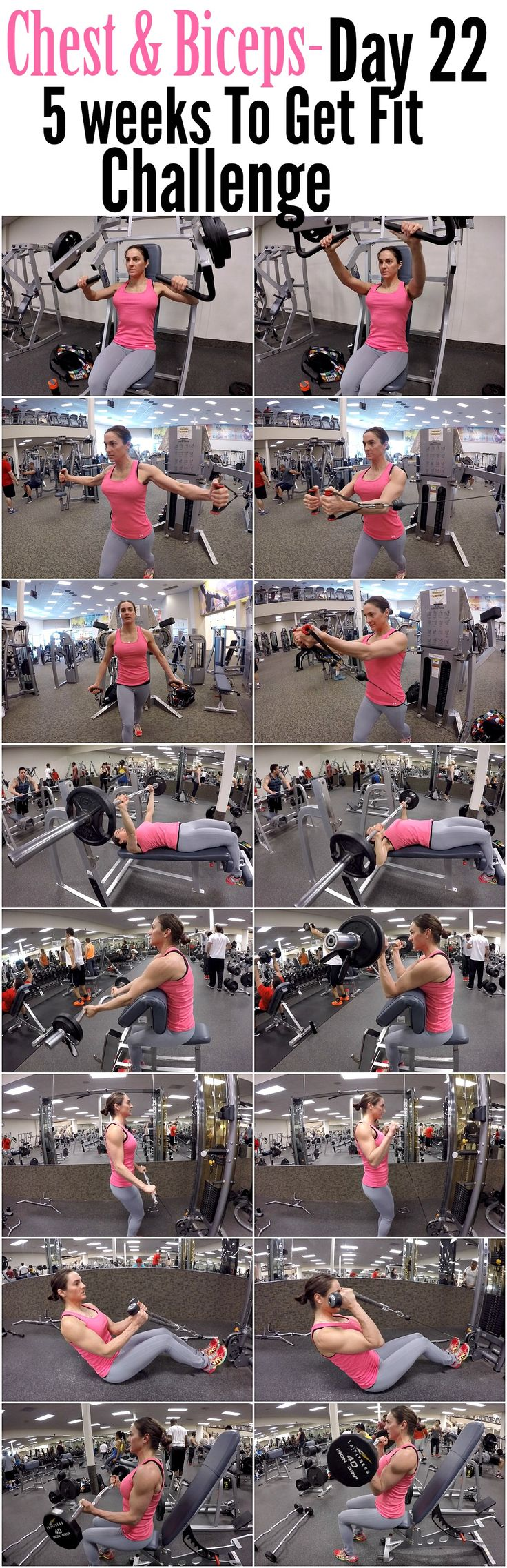 5 Weeks To Get Fit Challenge Day 22-Chest & Biceps.