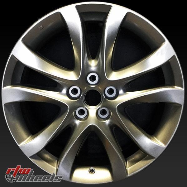 """Mazda 6 wheels for sale 2014-2016. 19"""" Hyper Silver factory oem rims 64958 - https://www.rtwwheels.com/store/shop/mazda-6-wheels-for-sale-hyper-silver-factory-oem-rims-64958/"""