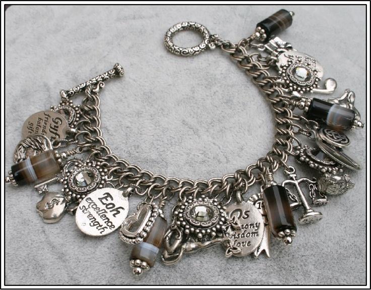 Charm Bracelet Runes Magick Vintage Inspired by BlackberryDesigns