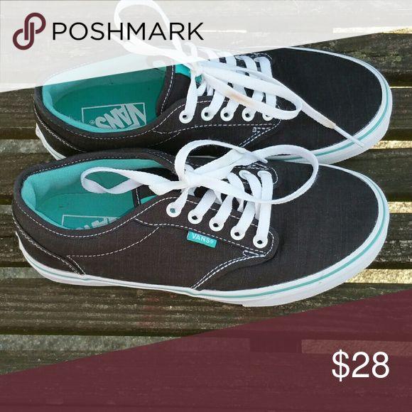 Vans Tennis Shoes Cancas Vans Black Laceup Vans Shoes Sneakers