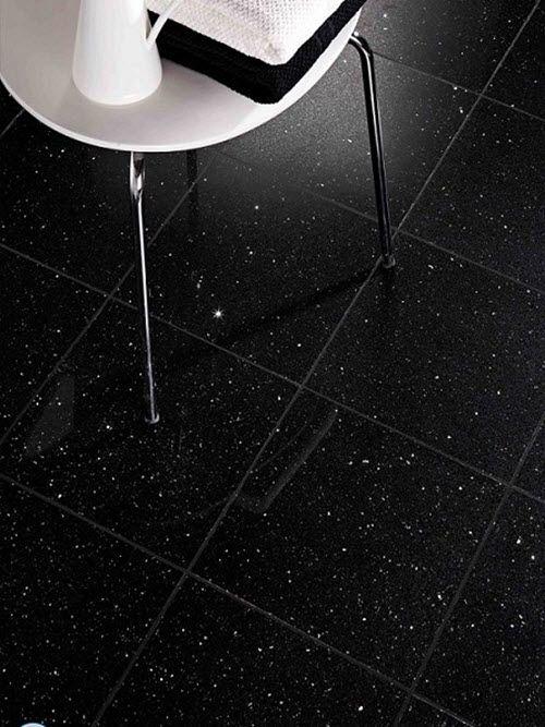 23 Black Sparkle Bathroom Floor Tiles Ideas And Pictures Black Floor Tiles Floor Tile Design Black Tile Bathrooms