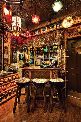 How To Outfit Your Home Tiki Bar Bar Cart Tiki Bar
