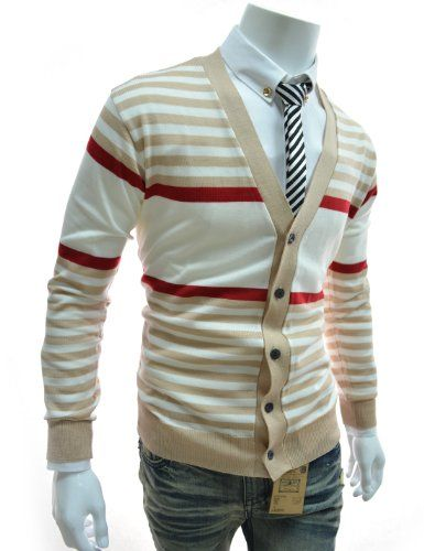 Thelees Sgc01 Mens Casual Colorful Knit Cardigan 10 Types