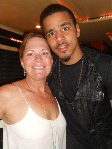 J. Cole & his mommy