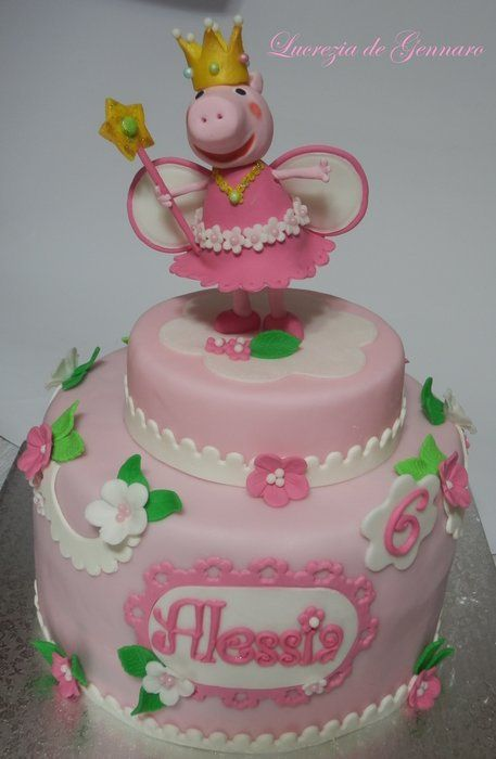 peppa pig princess cake - by sweet_sugar_crazy @ CakesDecor.com - cake decorating website
