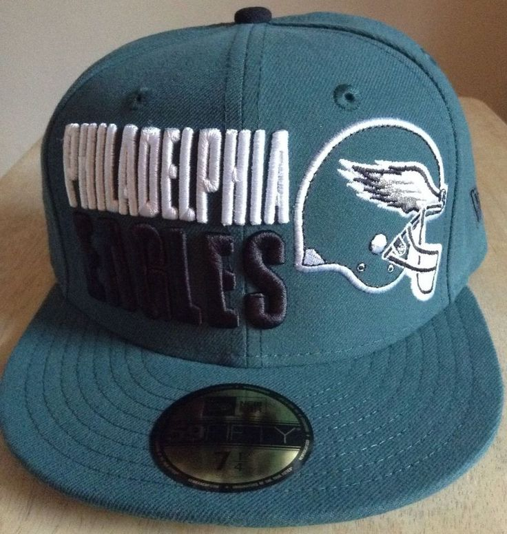 new styles 4aae0 4b9d3 ... philadelphia eagles nfl hat new era size 7 1 4 green fitted cap nwt  retail 36.99 ...