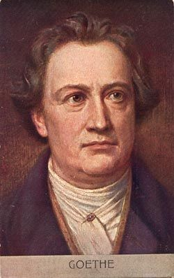 Johann Wolfgang von Goethe, German writer and artist