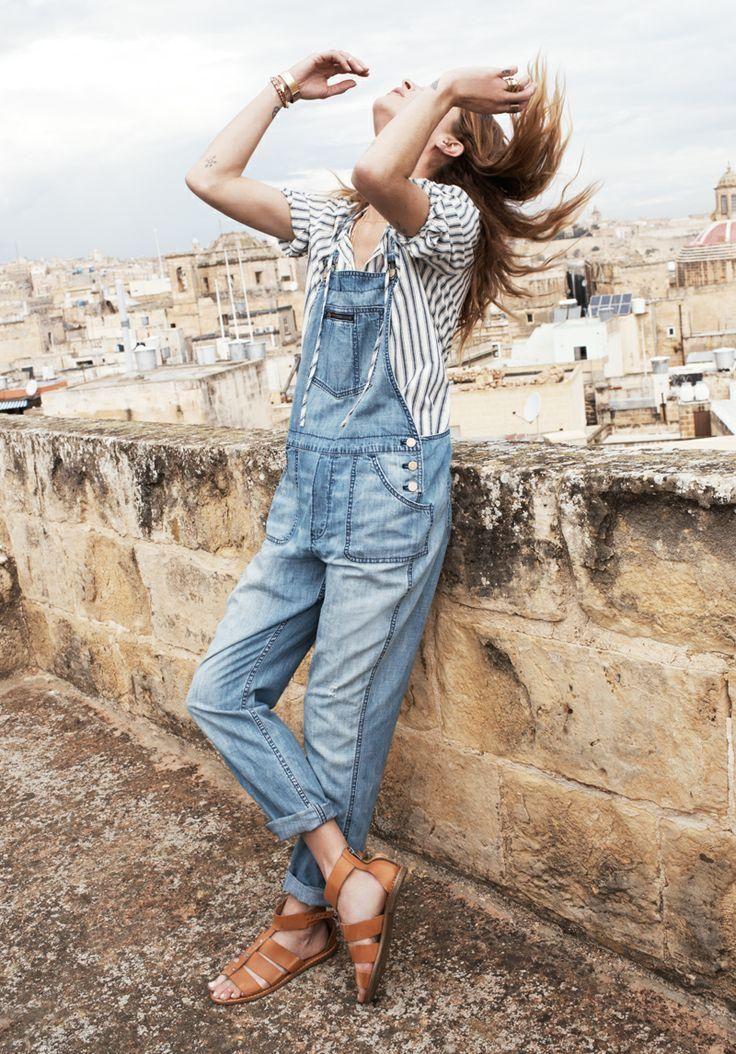 Park Overalls Madewell Spring 2014, Erin Wasson on location in Malta #denimmadewell