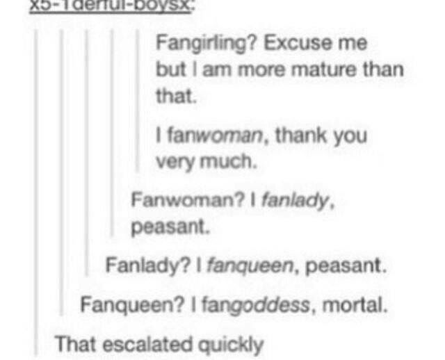 tbh im not even worthy of the title fangirl. ill just be be a fantrash. fantrashing.>>>>> what about fan-beyonce
