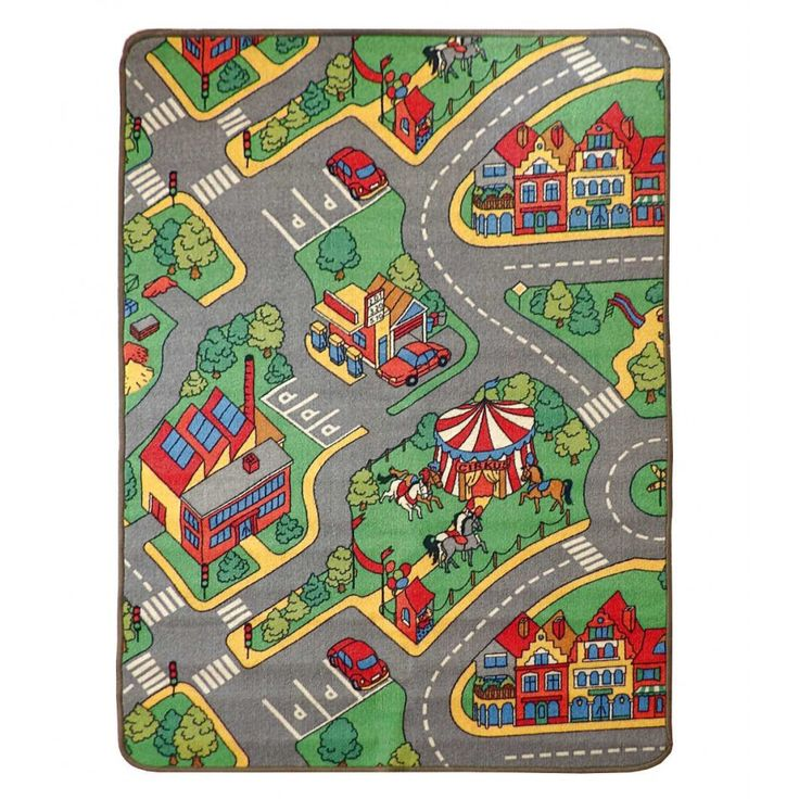 Divertida y educativa alfombra para ni os con un parque de - Alfombras antiacaros ninos ...