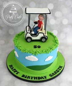 Golf Buggy Birthday Cake. - http://pontycarlocakes.com/golf-buggy-birthday-cake…