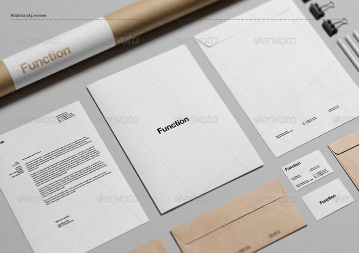 Branding / Stationery Mock-Up #psd #photoshop #mockup #stationery #branding #corporate #identity #letterhead #business #card #notebook #pencil #envelope #postaltube