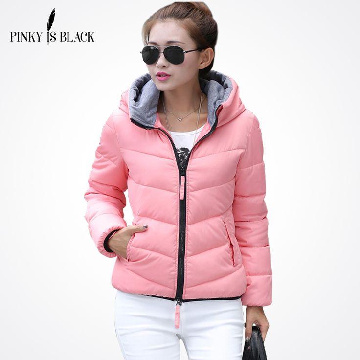 Pinky Is Black 2017 Snow wear wadded jacket female autumn and winter jacket women slim short jacket outerwear winter coat women #Affiliate