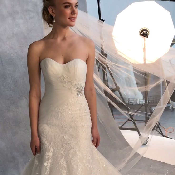 This figure flattering fit and flare wedding dress 'Albany' by Anna Sorrano is every brides dream  Is this 'the one' for you?  http://bit.ly/VBAlbany