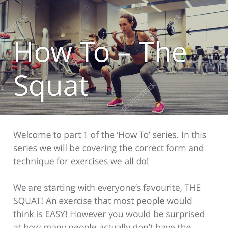 We've got all the info on how to squat correctly on the blog now! Check it out, link in bio! 👍🏻 #squat #fitness #howto #pt #personaltraining #gym