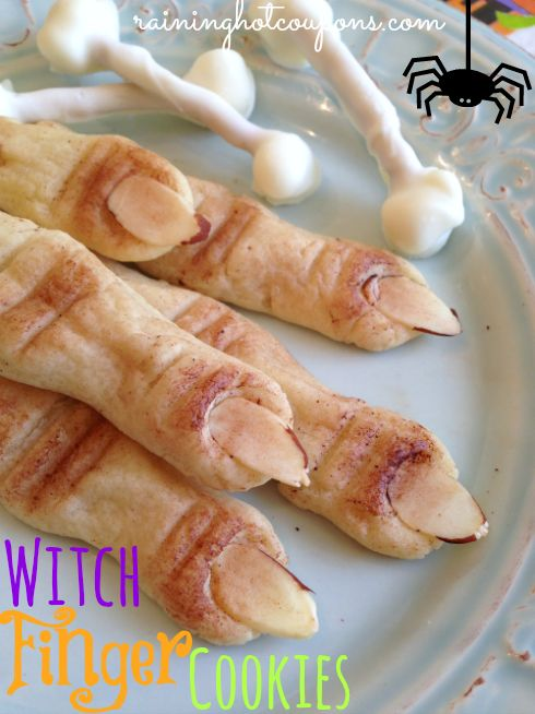 Halloween Witch Finger Cookies I made these once and they were fun!