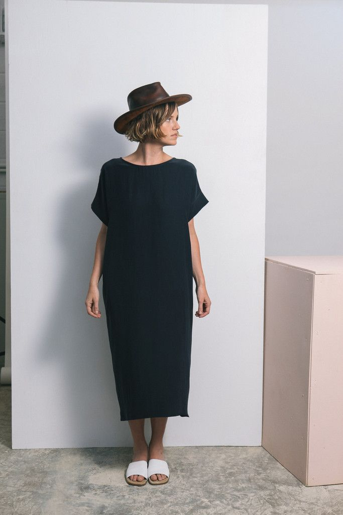 Georgia Midi easy every day scandi chic midi black dress ,great chic pattern for alice to make or have made by a kind gran for those weekend days when you want to go casual or those days at work in the studio or gallery