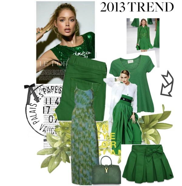 """ano do verde esmeralda"" by joicyaraujo ❤ liked on Polyvore"