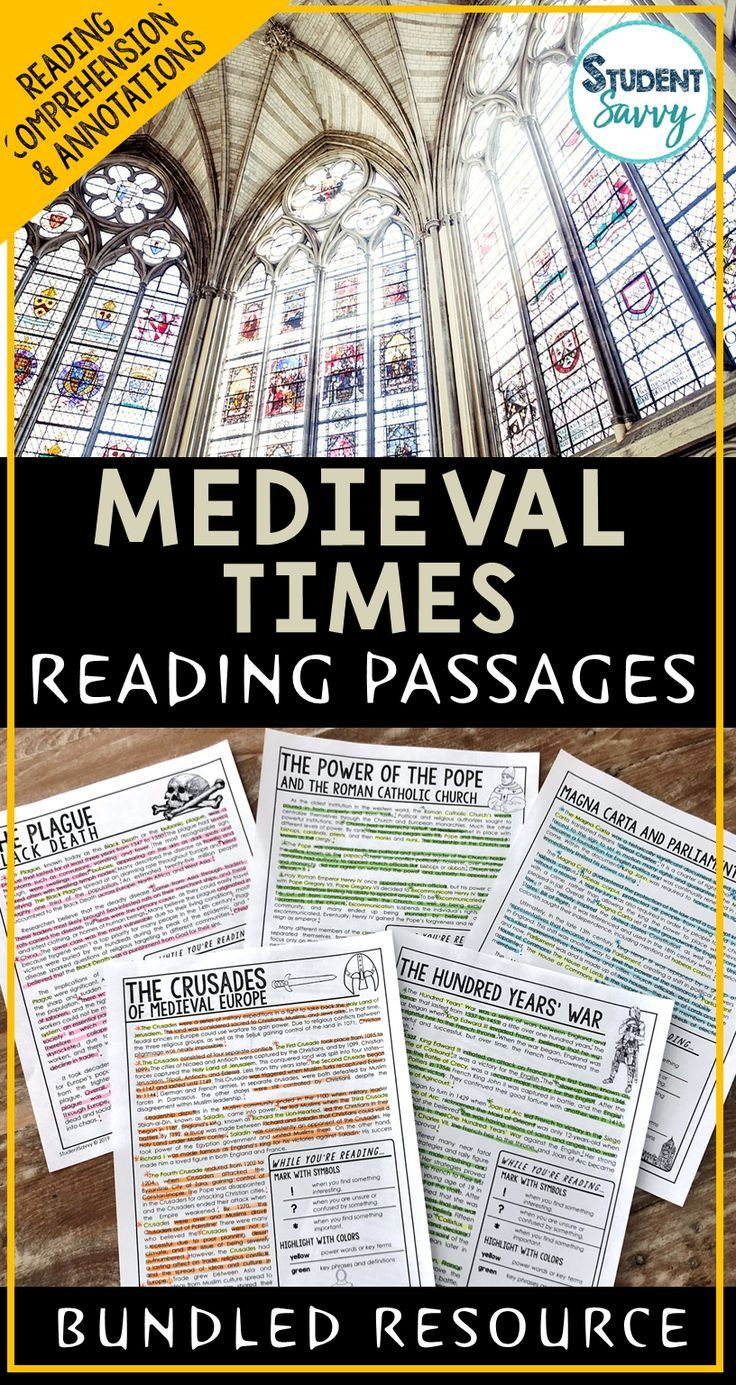 Predownload: Medieval Times Reading Comprehension Passages Worksheets Questions And Annotations Bundle Reading Passages Reading Comprehension Passages Medieval [ 1385 x 736 Pixel ]