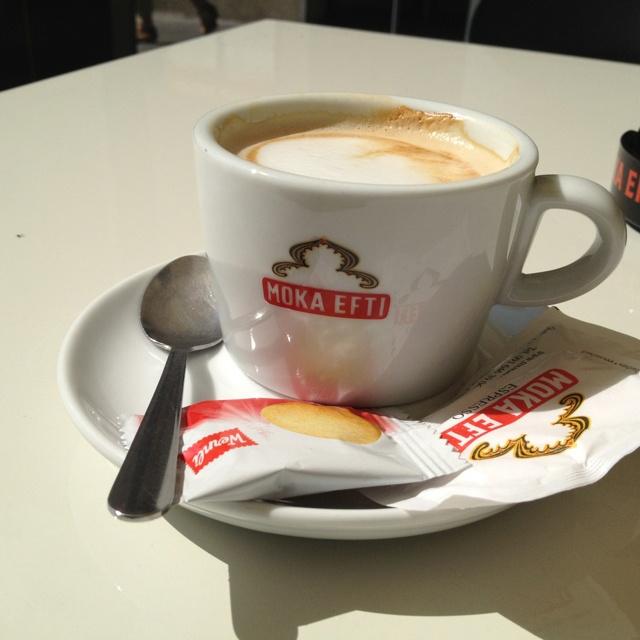 Nog even een stukje langs het Comomeer fietsen en een cappuccino drinken!