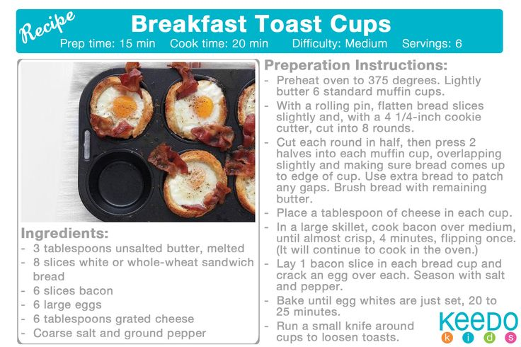 Breakfast Toast Cups http://www.buzzfeed.com/melissaharrison/cooking-with-kids