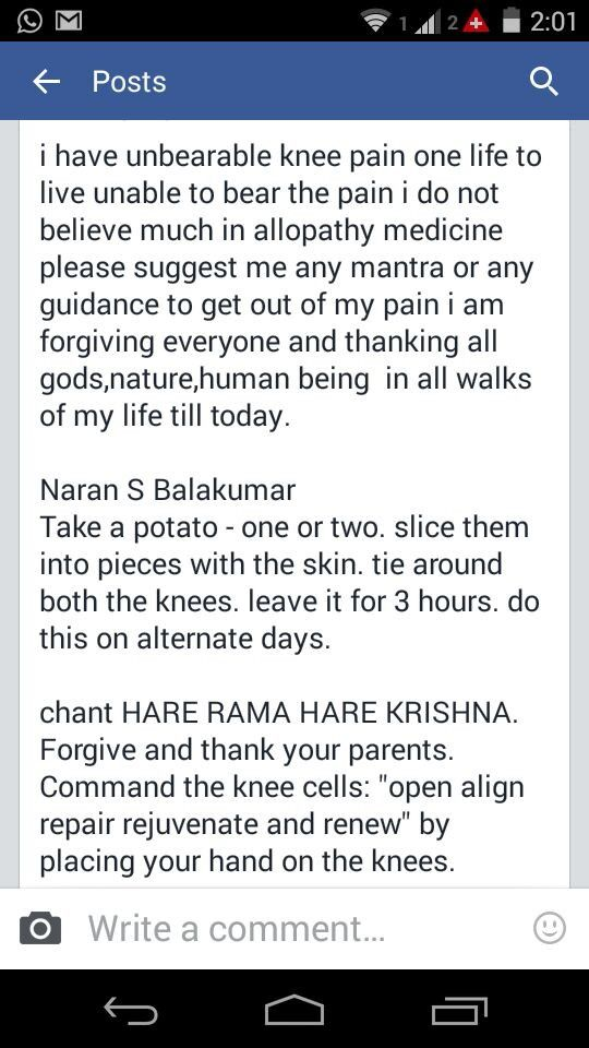 Hare Rama Hare Krishna for knee pain...  full mantra ' hare rama hare rama rama…