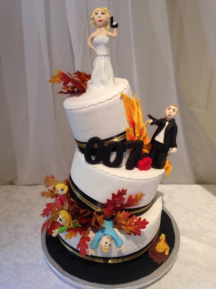 gâteau thématique James bond pour une famille originale :)