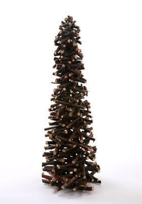 Choinka z drewnianych patyczków 42 cm