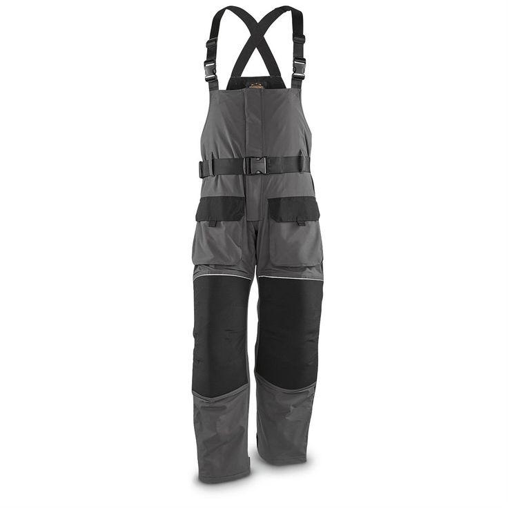 Guide Gear Men's Cold Weather Insulated Waterproof Bibs, Black / Gray