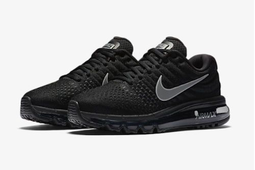Nike Air Max 2017 Womens Shoes Model 849560-001 Black Grey Flymesh Running Cross #Nike #RunningCrossTraining