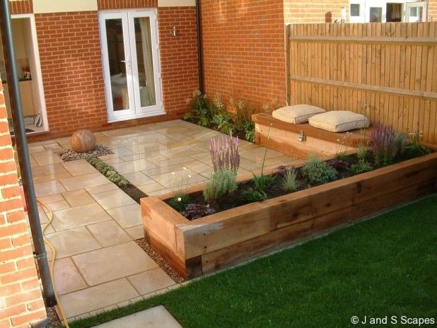 Exterior. Affordable And Simple Raised Garden Bed Landscape ...