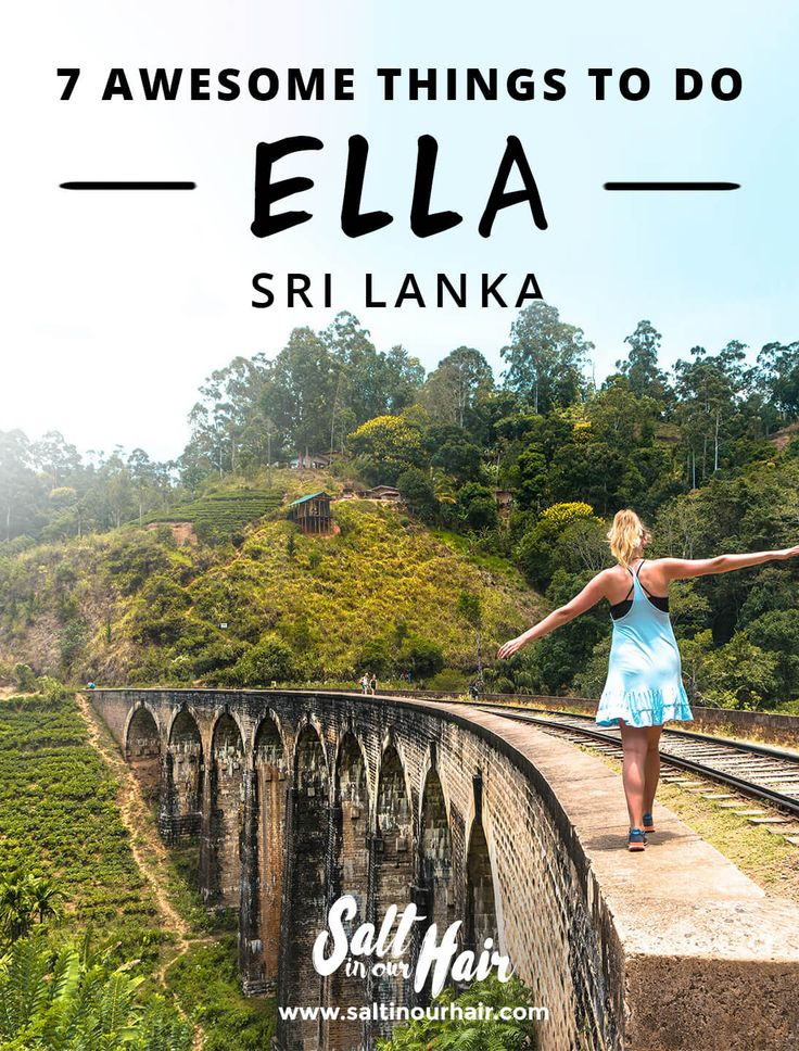 things to do ella sri lanka pin