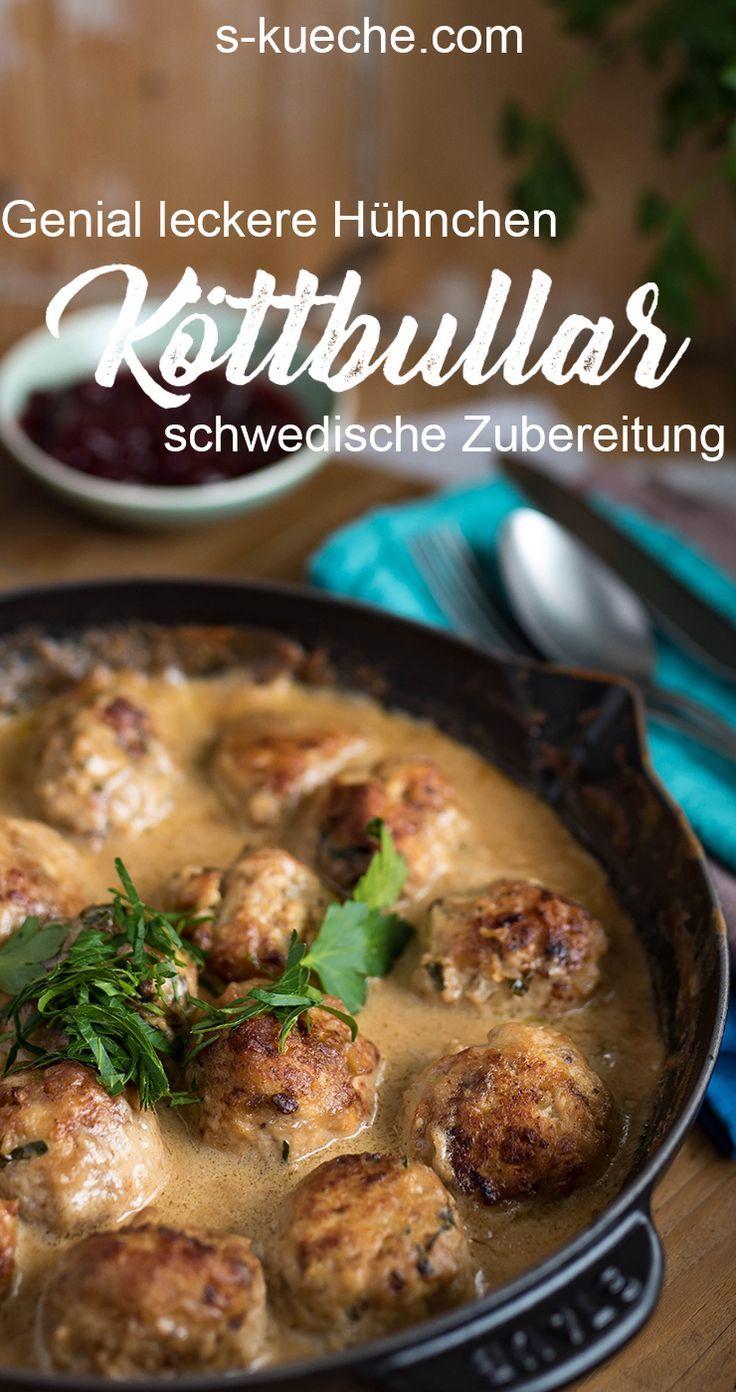 Genial leckere Hähnchen Köttbullar nach schwedischen Originalrezepten in einer ganz fantastischen Sauce