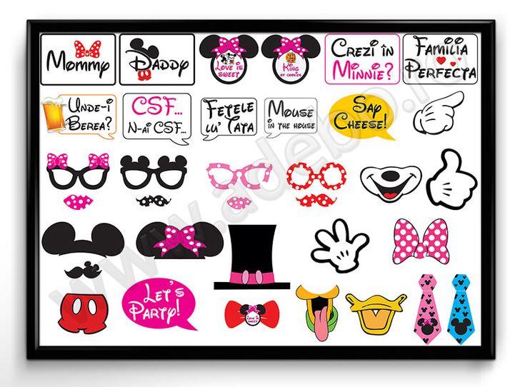 Propsuri Botez Minnie si Mickey Mouse