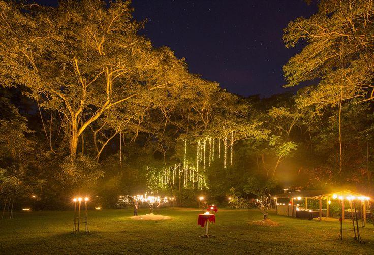 Pre dinner drinks under the stars