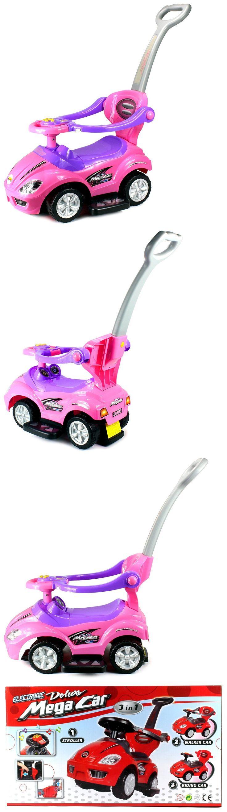 Walkers Deluxe Mega 3 In 1 Car Children S Toy Stroller And Walker Pink