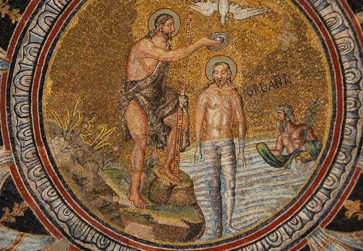 Battistero degli Ortodossi, Ravenna. Mosaici della metà del V secolo. Galla Placidia