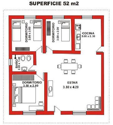 310 best small apartment images on pinterest apartment for Planos de casas economicas