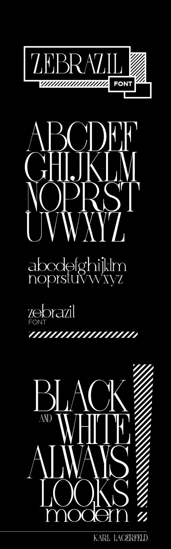 ZEBRAZIL - Free Font Great looking modern font