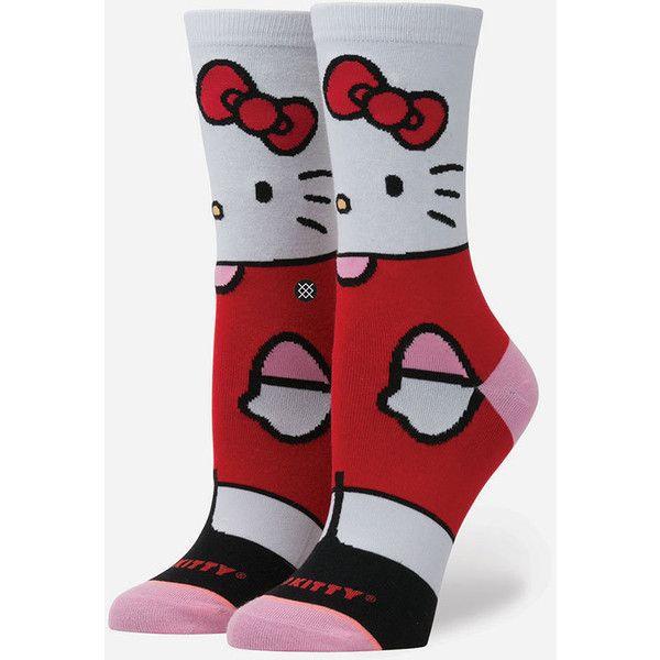 Stance X Sanrio Hello Kitty Girls Socks ($12) ❤ liked on Polyvore featuring intimates, hosiery, socks, hello kitty socks, no seam socks, seamless socks and stance socks