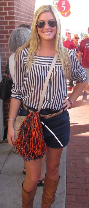 Game day outfit for an Auburn girl