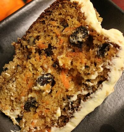 Rum Raisin Carrot Cake with Cream Cheese Frosting Print Dig-in...