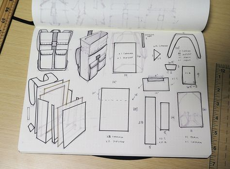 """Backpack plan 2 from Instructables """"How to make a backpack"""" by riciavar"""