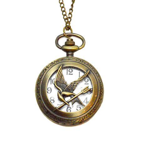 """CustomJewels.nl - Hunger Games: Mockingjay horloge ketting"" I want"