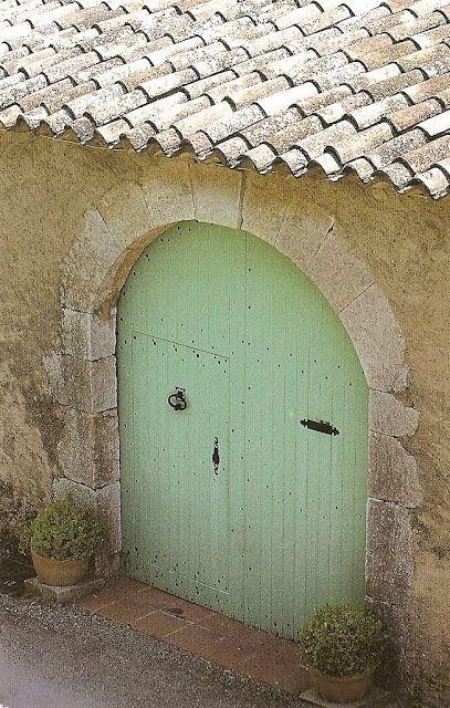 Tiles. Beautiful. Also, love that green door!