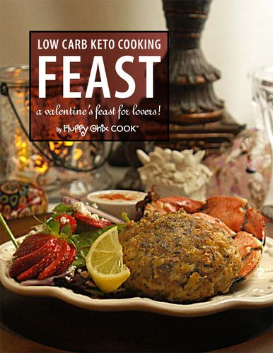 FEAST | valentine's feast for lovers (Feb edition) - by Fluffy Chix Cook, low carb keto recipes, meals, 109 color pages. Instant e-book download