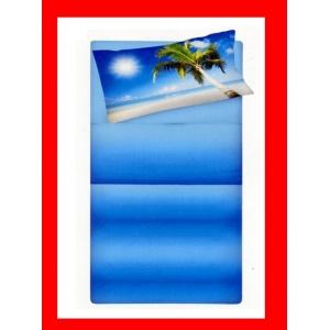 Completo Lenzuola letto singolo con spiaggia mare atollo palma VACANZA CARAIBI - SATURNOStore